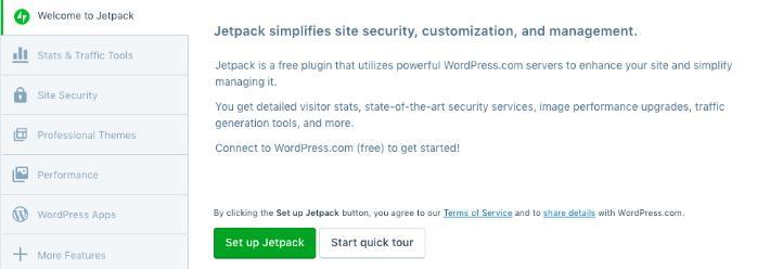 Installing Jetpack on your self-hosted WordPress website.