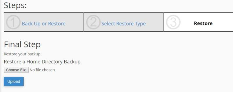 Restoring your backup file.