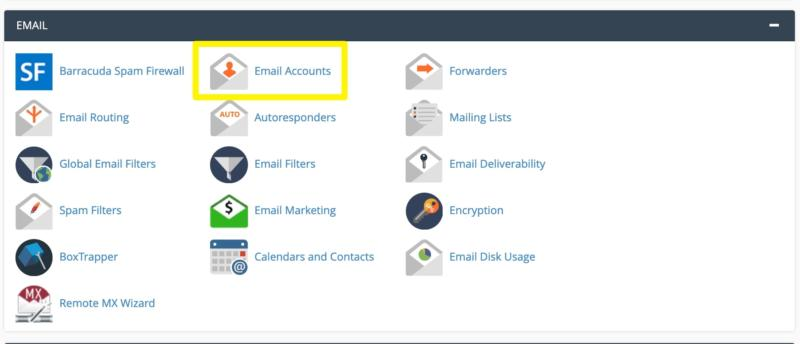 The Email Account icon in cPanel.