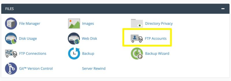 The cPanel FTP Accounts icon.