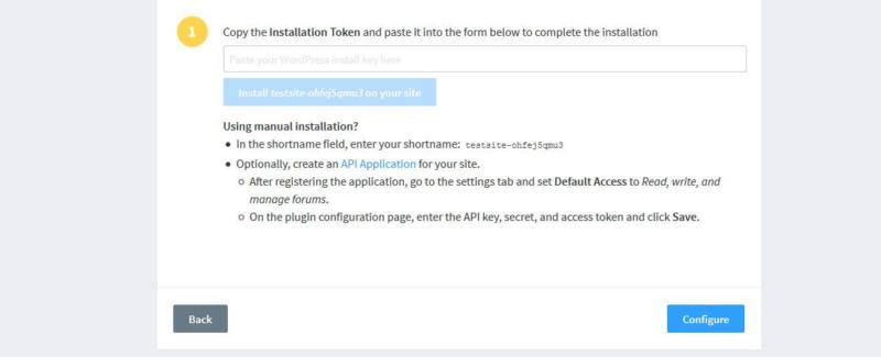 Retrieving your Disqus installation token.