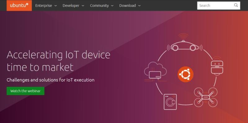 The Ubuntu homepage.