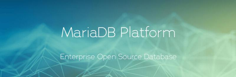 The MariaDB homepage.