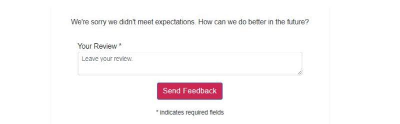 A negative feedback response.