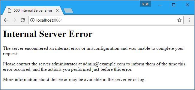 A 500 Internal Server Error.