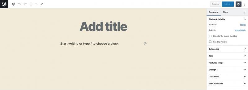 A new WordPress post.