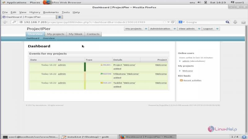 ProjectPier project management platform.