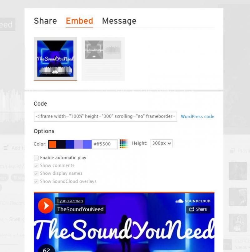 SoundCloud's WordPress embed features