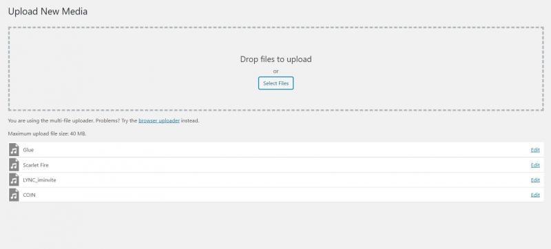 WordPress native multi-file uploader