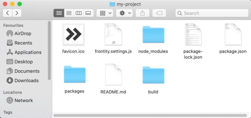 A project root directory.