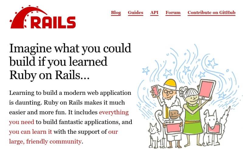 The Ruby on Rails framework.