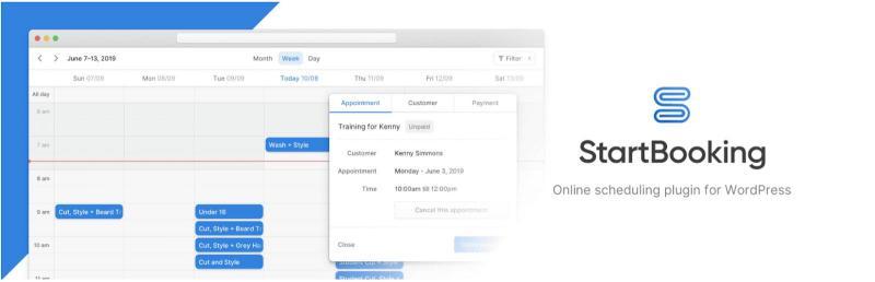 The WordPress Calendar Booking scheduling plugin.