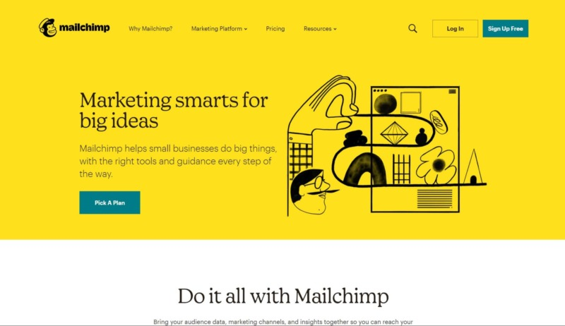 The MailChimp website.