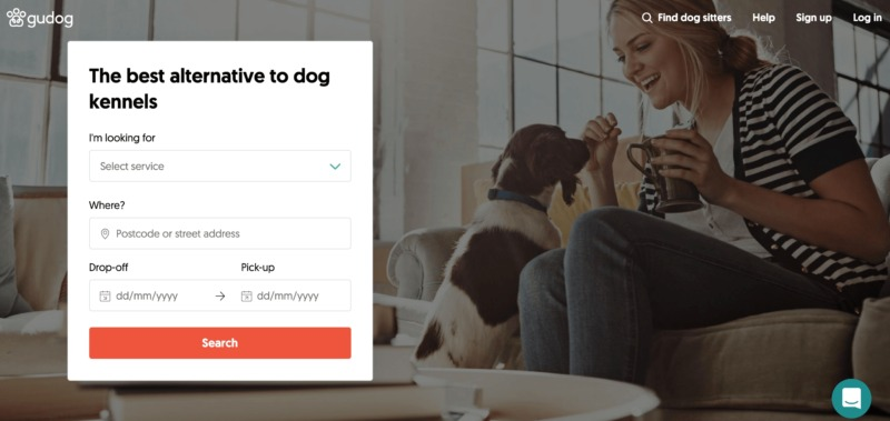 A pet-sitting website created with Frontity