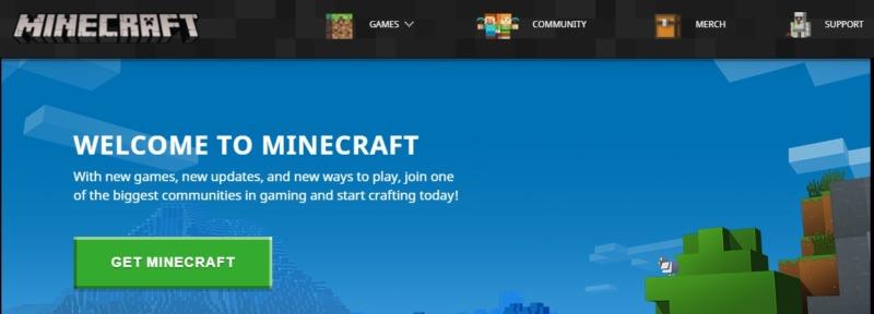 The online game Minecraft.