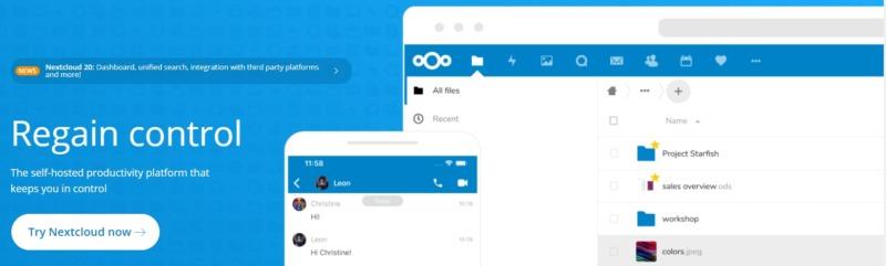 Nextcloud file sharing platform.