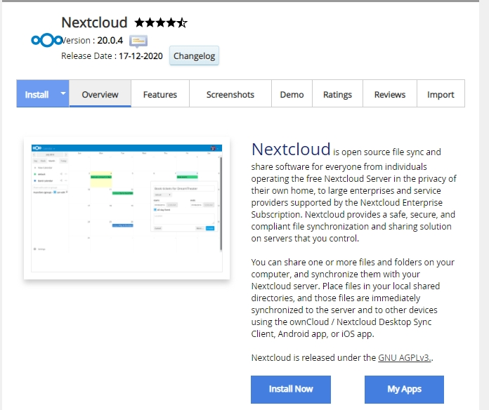 The NextCloud app.