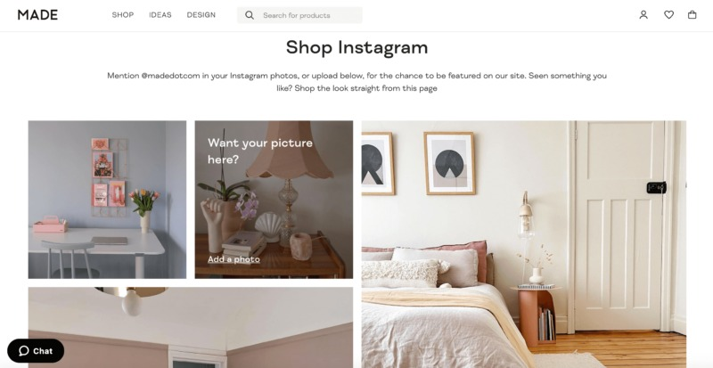 The MADE Instagram competition example of an e-commerce trend.