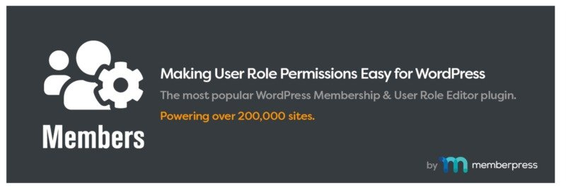 The WordPress Members plugin.