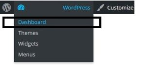 WordPress Menu Dashboard