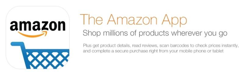 The Amazon mobile app banner.