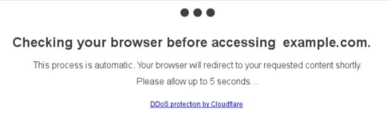 """Cloudflare's DDoS """"under attack"""" mode."""
