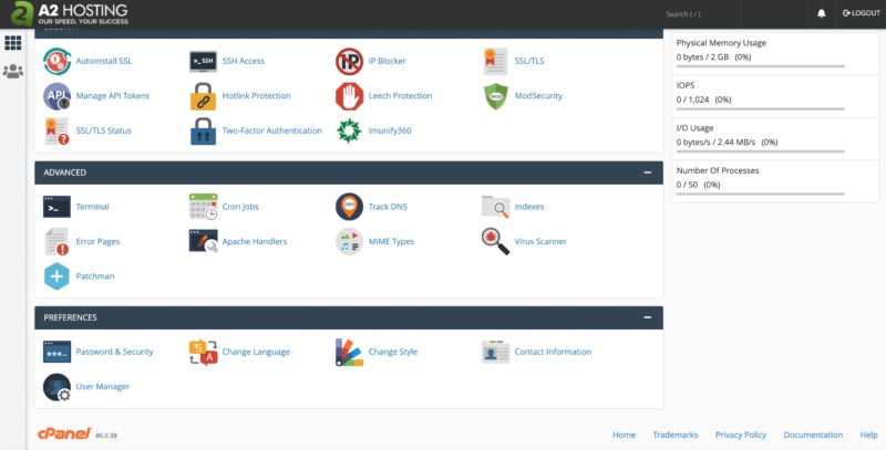 Create a secure VPS with cPanel.