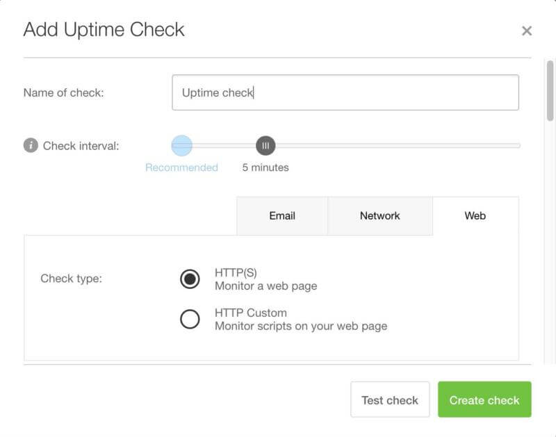 The Pingdom uptime monitoring tool.