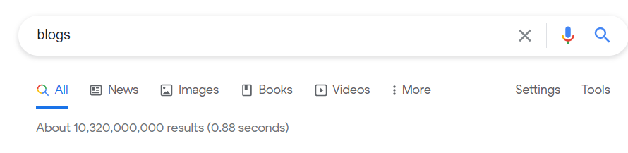 Blog google search
