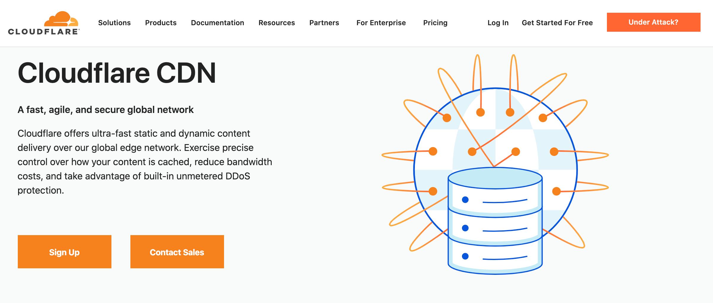 Create a secure WordPress website using a CDN.