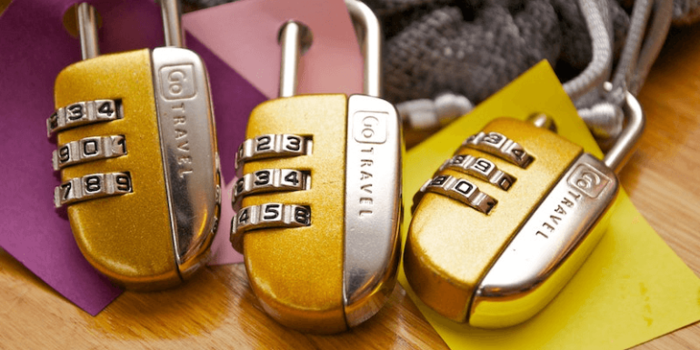 Colorful padlocks,