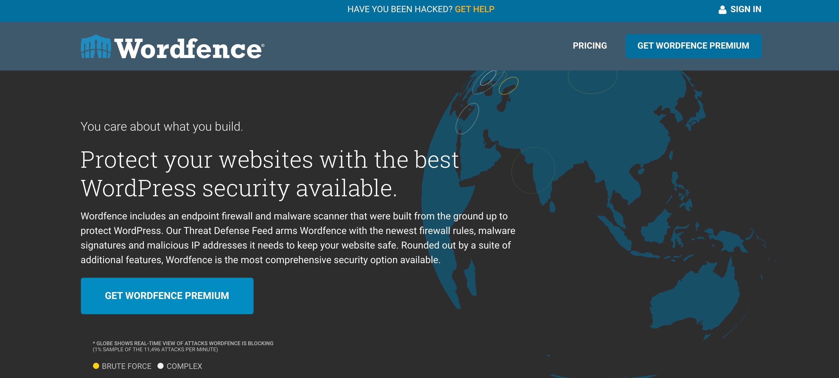 Create a secure WordPress website by using a firewall.