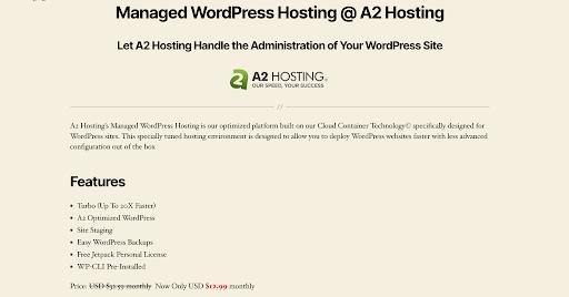 Sample WordPress page