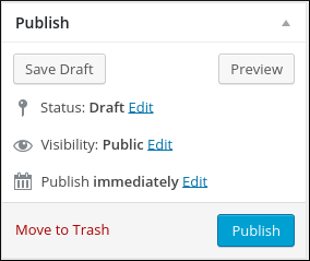 WordPress - Add new page publish