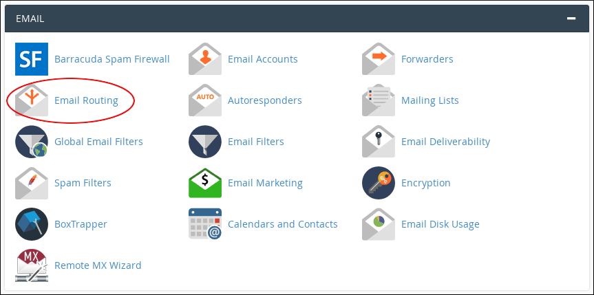 cPanel - Email - Email Routing icon