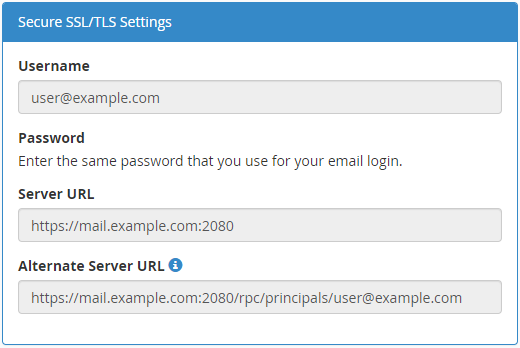 Synchronizing local clients with webmail calendars and contacts