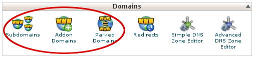 cPanel - Domains - Subdomains, Addon Domains, and Parked Domains