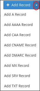 cPanel - Zone Editor - Add record