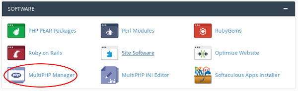 cPanel -  MultiPHP Manager icon