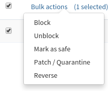 Patchman - Bulk actions