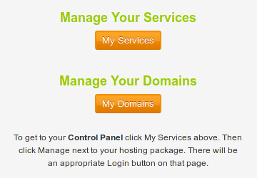 Customer Portal - Manage services and domains