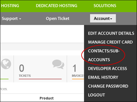 Customer Portal - Contacts / Sub-accounts