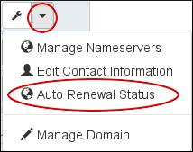 Customer Portal - Domains - Auto-renew