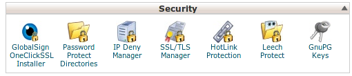 GlobalSign - cPanel icon