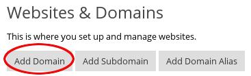 Plesk - Add Domain