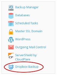 Plesk - Dropbox Backup icon