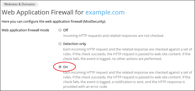 How to configure the Web Application Firewall in Plesk