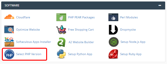 cPanel - Select PHPVersion icon