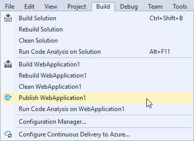 How to Publish a Site from Visual Studio Using Web Deploy