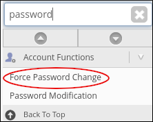 WebHost Manager - Force Password Change